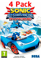 Sonic & All-Stars Racing Transformed - 4 Pack